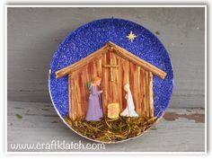 Nativity Scene Resin Coaster
