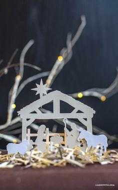 Papercut Nativity Scene