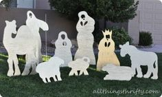 Wood Yard Nativity Set