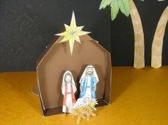 Paper Stand-up Nativity Set