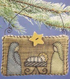 Nativity Quilt Ornament