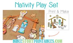 Nativity Printable Play Set