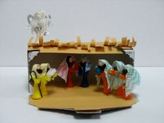 Golf Tee Nativity Set