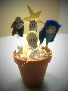 Flower Pot Nativity Scene