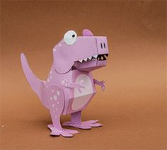 Poseable Paper T. Rex