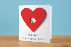 Missing puzzle piece card
