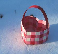 Paper Heart Basket