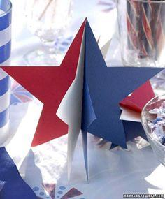 3-D Paper Star Decorations
