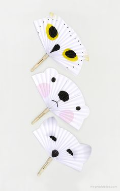 Arctic Animals Paper Fans