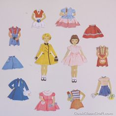 Magnetic Paper Dolls Tutorial