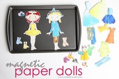 Make your own Magnetic Paper Dolls