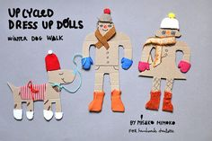 Upcycled Cardboard Dress Up Dolls