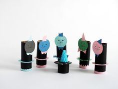 Easy Upcycled Paper Craft Dolls