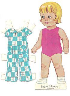 Baby's Hungry! Paper Doll Book