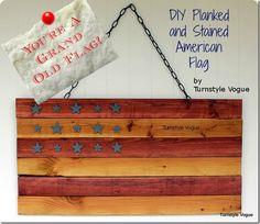 Stained & Planked American Flag