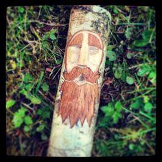 Forest Spirit Wood Carving