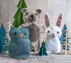 Woodland Friends Felt Puppets