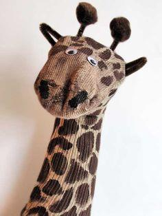 Animal Sock Puppet Giraffe