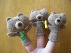 Goldilocks & the 3 Bears Puppets