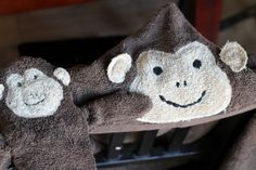 Monkey Washcloth Puppet