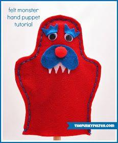Felt Monster Puppet Tutorial