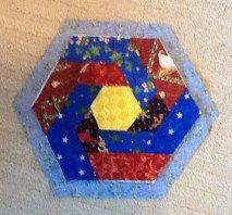 QUILT AS YOU GO HEXAGON HOT PAD