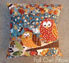 Owl Fall Pillow Tutorial