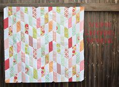 striped chevrons quilt top