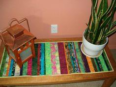 Scrappy Quilt-as-you-go Table Runner