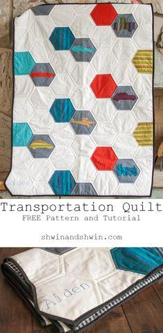 Transportation Quilt || Free Pattern And Tutorial