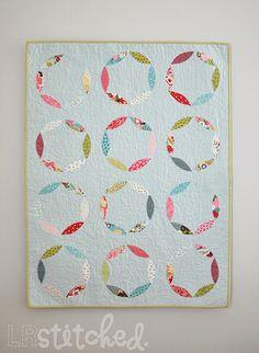 Mod Circles Appliqued Baby Quilt