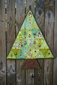 Quilted Christmas Advent Calendar Tutorial