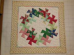 Twisted Xmas Wreath Quilt tutorial