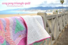 Cozy Posy Triangle Quilt Tutorial