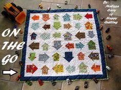 On The Go Baby Boy Quilt Tutorial