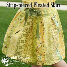 Strip-pieced Pleated Skirt Tutorial