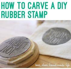 DIY Carved Rubber Stamp