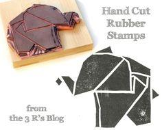 Handcut Rubber Stamp