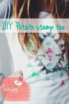 DIY Potato Stamp Tee