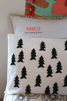 Tree Stamp Pillow