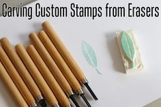 Carve Stamps from Erasers