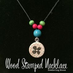 wood stamp necklace