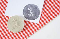 ME & YOU rubber stamp