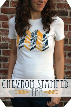 CRAFT: Chevron Stamped Tee