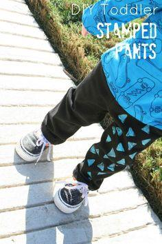 TODDLER STAMPED PANTS