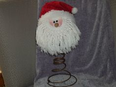Making a Bed Spring Santa