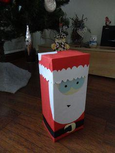 Santa decoration box