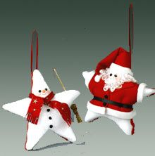 Softy Star Santa and Snowman