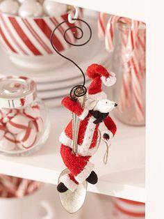 Santa Mouse Ornament