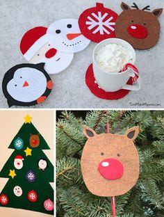 Homemade Christmas Coasters